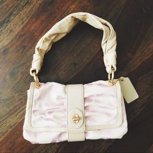 Light pink coach handbag purse